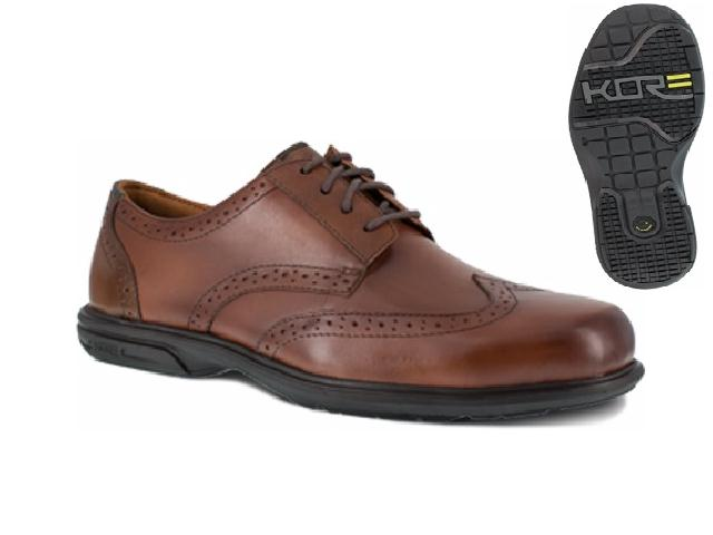 fs2023 - Florsheim fs2023 Florsheim ESD Brown Wing Tip Safety Toe Shoes