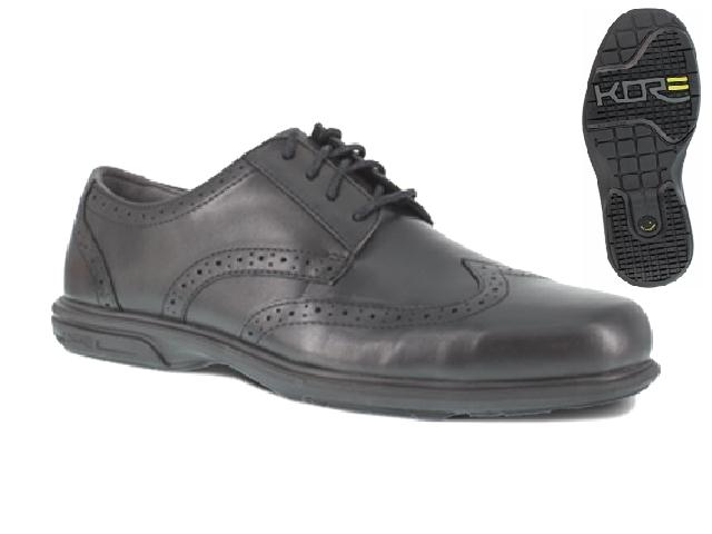 Florsheim fs2024 Florsheim ESD Black Wing Tip Safety Toe Shoes