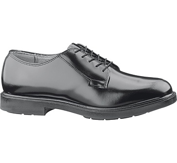 b112 - Bates 112 Men's Durashocks Black Leather Oxford Shoes