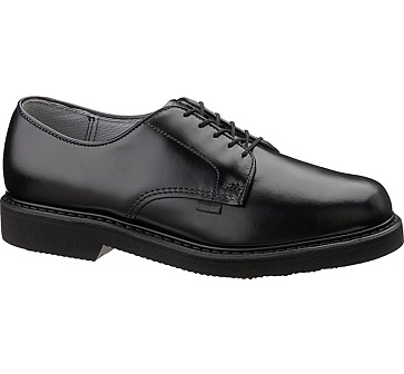 b56 - Bates 56 Lites Men's Black Leather Postal Oxford Shoes