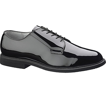 b7 - Bates 7 Men's Black High Gloss Oxford Shoes
