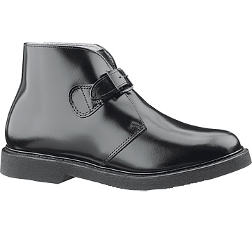 b83 - Bates 83 Lites Men's Black Buckle Leather Chukka Boots