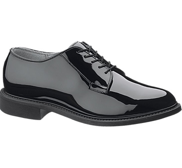 b941 - Bates 941 Men's High Gloss Military Uniform Oxford Shoes