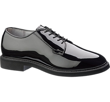b942 - Bates 942 Lites Men's High Gloss Uniform Dress Oxford Shoes