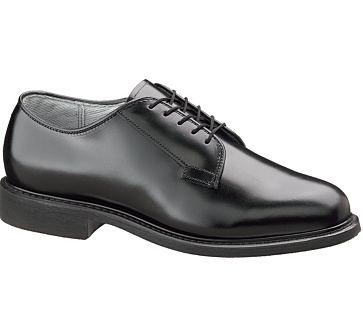 b968 - Bates 968 Men's Black Leather Military Uniform Oxford Shoes