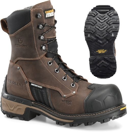 ca2560 -  Carolina ca2560 Men's Waterproof Composite 8 Inch Safety Toe Logger Boot EH Rated