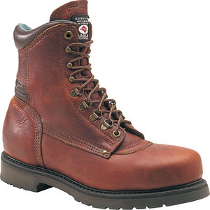 c809 - Carolina 809 Men's 8 Inch Plain Toe Work Boots with Padded Collar AMERICAN MADE