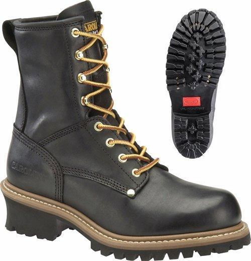 c1825 - Carolina ca1825 Men's Safety Toe Logger Boot 8 Inch