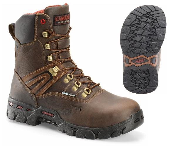 ca5536 - Carolina ca5536 Men's Waterproof Composite 8 Inch SAFETY TOE Boots EH Rated