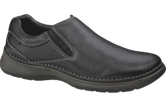 hp15124 - Hush Puppies Lunar Men's Slip On Shoes Black 15124