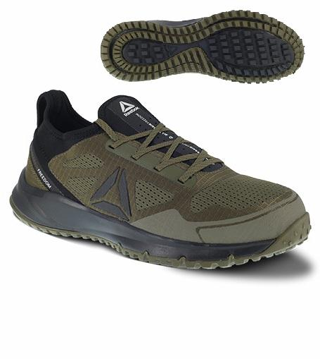Reebok rb4092 Men's Sage and Black Athletic EH SAFETY TOE Shoe