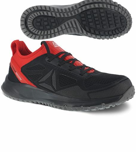 rb4093 - Reebok rb4093 Men's Black and Red Athletic ESD SAFETY TOE Shoe