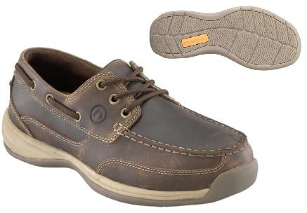 rk6736 - Rockport Works rk6736 3 Eye Tie Boat Shoe EH Safety Toe Shoe