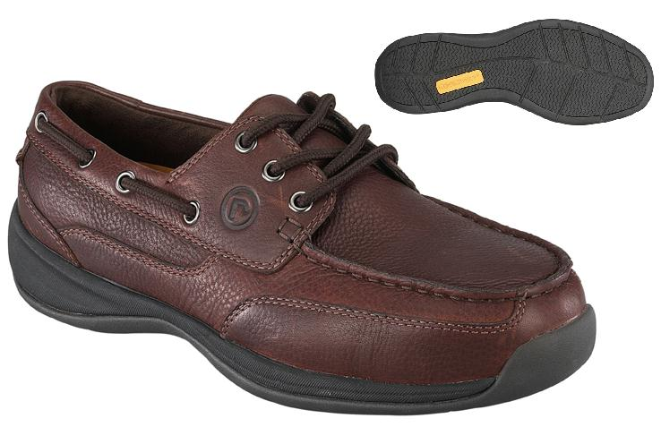 rk6745 - Rockport Works rk6745 3 Eye Tie Boat Shoe ESD Safety Toe Shoe