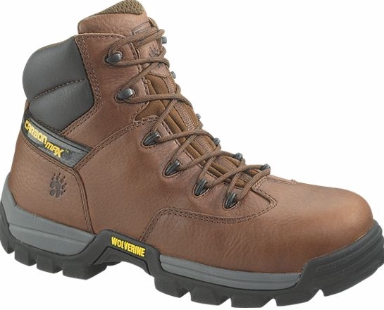 w2292 - Wolverine Carbonmax Men's 6 Inch COMPOSITE SAFETY TOE Boots, EH Rated 2292