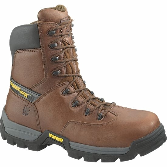 w2294 - Wolverine Carbonmax Men's 8 Inch COMPOSITE SAFETY TOE Boots, EH Rated 2294