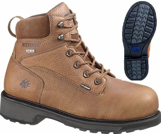 w2564 - Wolverine 2564 Men's 6 Inch Gore-Tex Waterproof Durashocks COMPOSITE SAFETY TOE Boots, EH Rated