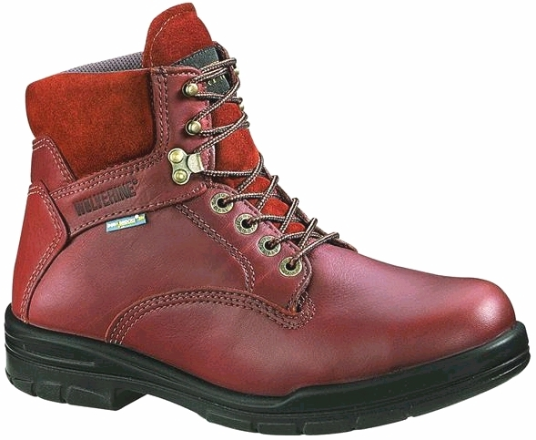 w3120 - Wolverine Men's 6 Inch Durashocks Slip Resistant SAFETY TOE Boots, Brown 3120