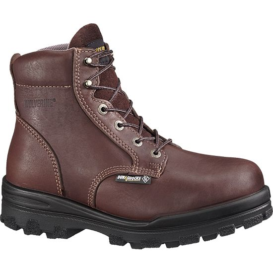 w3177 - Wolverine Men's 6 Inch Waterproof Insulated SAFETY TOE Boot Brown 3177