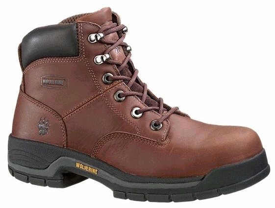 w4904 - Wolverine Men's 6 Inch SAFETY TOE Boots, EH Rated 4904 w/ extended sizes