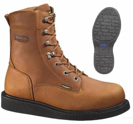 w2639 - Wolverine Men's 8 Inch Durashocks Work Boots Tan 2639