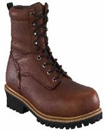 fe860 - Florsheim fe860 Men's Brown WATERPROOF COMPOSITE LOGGER 8 inch SAFETY TOE BOOT, EH Rated
