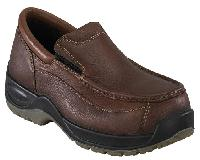 fs2740 - Florsheim fs2740 Men's Brown COMPOSITE BROAD TOE SAFETY TOE Slip On Oxford Shoe, ESD Rated
