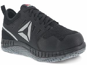 rb4251 - Reebok rb4251 Men's Black with Dark Gray Athletic ESD SAFETY TOE Shoe