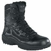 Reebok rb874 Women's 8 Inch Black Composite SAFETY TOE Zip SWAT Boots